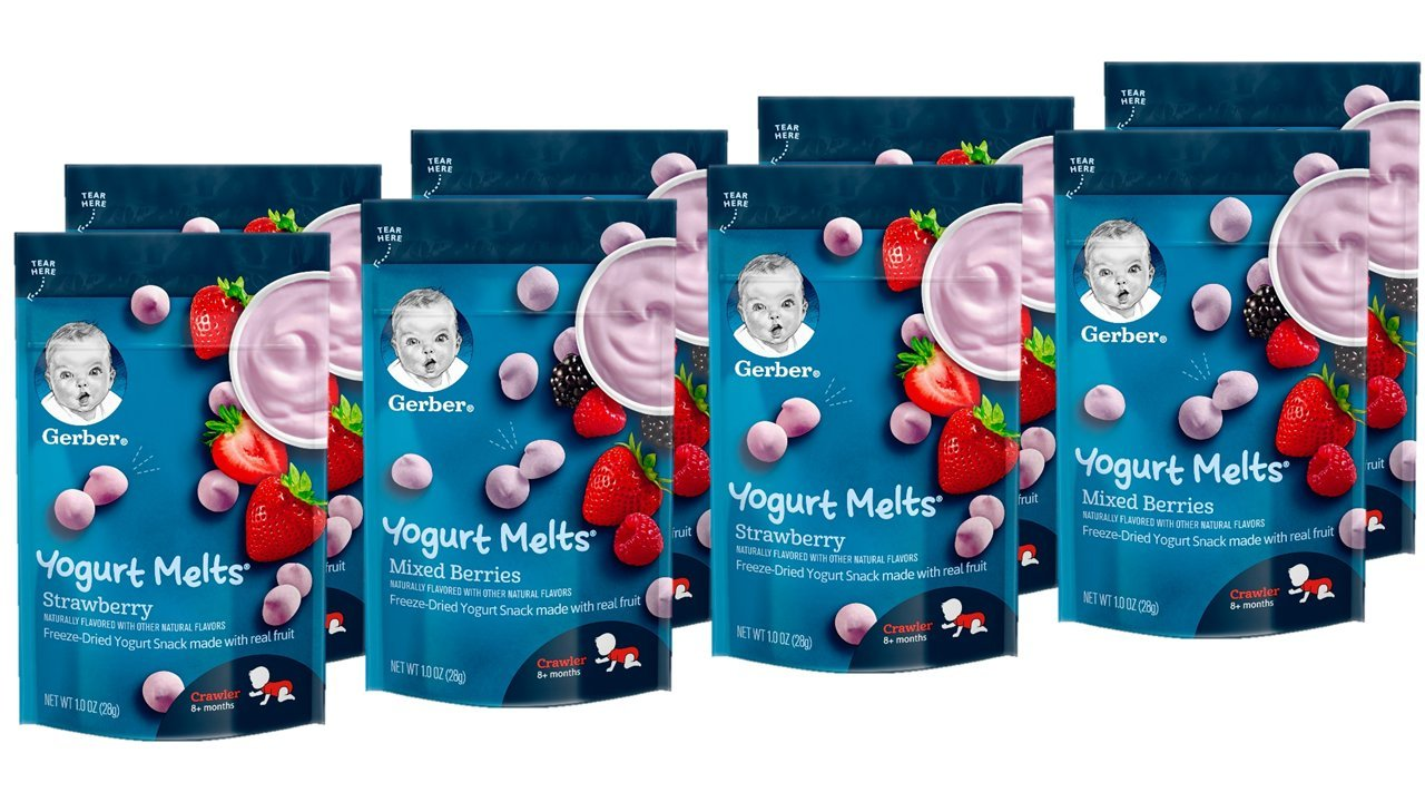bánh ăn dặm Gerber Yogurt Melts Mixed Berries