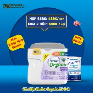 Hộp Sữa Bột Similac Organic with A2 Milk 658g